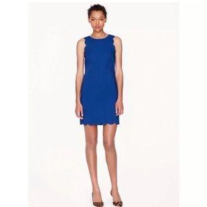 J Crew royal blue shift dress size 4